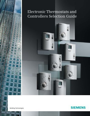 Electronic Thermostats and Controllers Selection Guide - Industry
