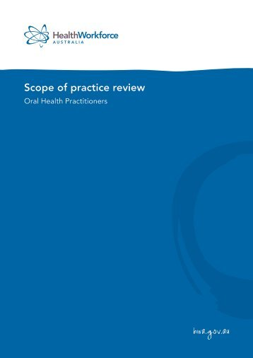 Scope of practice review - Health Workforce Australia