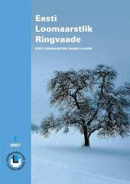 2007 Ringvaade nr.: 1 TEOORIA JA PRAKTIKA - Eesti Loomaarstlik ...