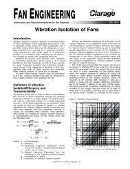 Vibration Isolation of Fans - Clarage