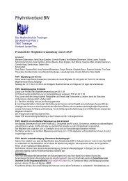 Protokoll der MGV März 2009