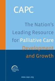 Download the CAPC Brochure - Center to Advance Palliative Care