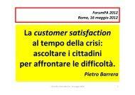 La customer satisfaction al tempo della crisi - Pubblica ...
