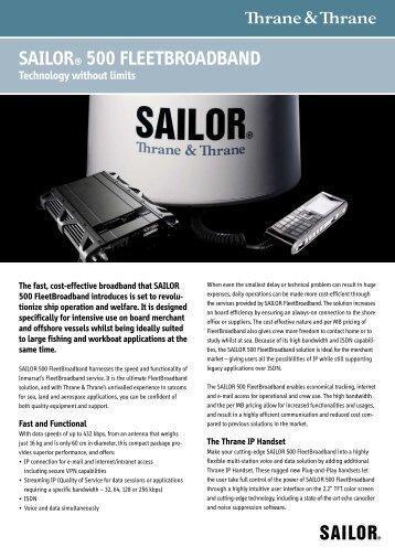 Sailor 500 Product Brochure (PDF) - Global Marine Networks