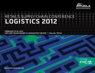 Logistics 2012 - Retail Industry Leaders Association