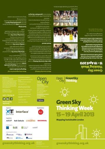 Green Sky Thinking 2013 programme (PDF) - Passivhaus Trust