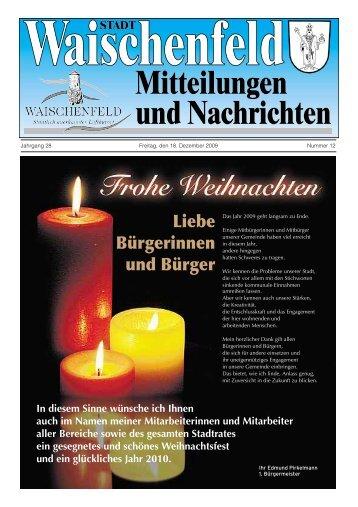 Mitteilungen und Nachrichten STADT Mitteilungen ... - Waischenfeld