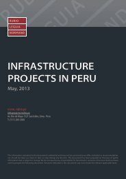 infrastructure projects in peru - RUBIO LEGUIA NORMAND