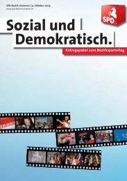 Antragspaket zum Bezirksparteitag - SPD-Bezirk Hannover