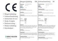 • Brugervejledning • Gebrauchsanleitung ... - Sækko Industri