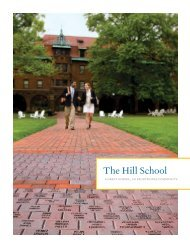 Download a PDF of The Hill School viewbook