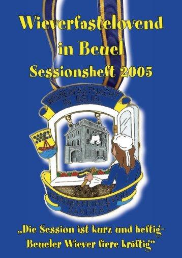 Sessionsheft 2005 - Beueler Wäscherprinzessin
