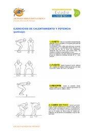 EJERCICIOS DE CALENTAMIENTO Y POTENCIA (patinaje)