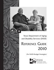 reference guide - Budget & Data Management Services - The Texas ...