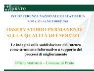 osservatorio permanente sulla qualità dei servizi - Pubblica ...