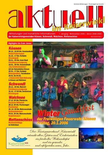 Kaiserwinklzeitung 01/2006 - Gemeinde Walchsee