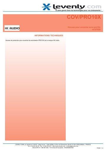 Fiche produit HK AUDIO - COV/PRO10X, Housse pour ... - Levenly