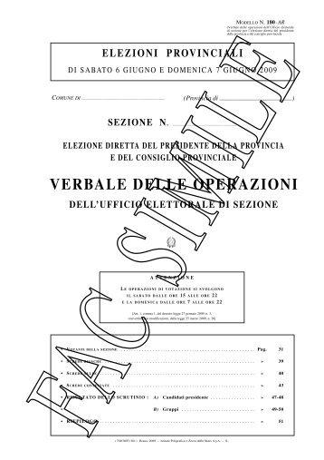 Fac Simile verbali Ufficio Elettorale - Utgpistoia.it