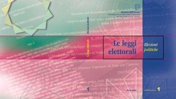 Normativa elettorale (aggiornata al 2006) - Utgpistoia.it