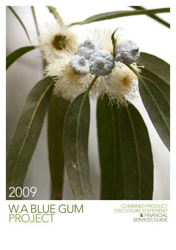Combined Product Disclosure Statement - WA Blue Gum Project