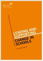 Leading and Supporting Change in Schools: A Discussion ... - NCCA