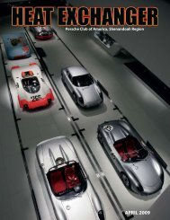 APRIL 2009 - Shenandoah Region Porsche Club of America