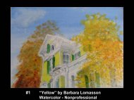 "#1 ""Yellow"" by Barbara Lomasson Watercolor - Nonprofessional"