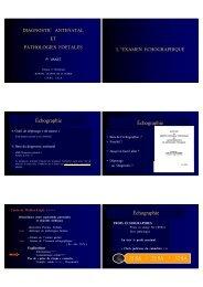 DAN et Pathologies Foetales, partie 1