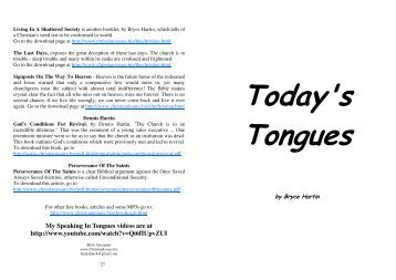 Today's Tongues - Christian Issues