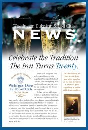 WDI Newsletter 3.04 - Washington Duke Inn & Golf Club