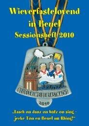 Sessionsheft 2010 (8,0 MB) - Beueler Wäscherprinzessin