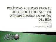 políticas publicas para el desarrollo del sector agropecuario