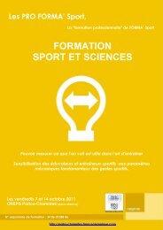 Télécharger la plaquette Sport et sciences (PDF) - CROS de Poitou ...