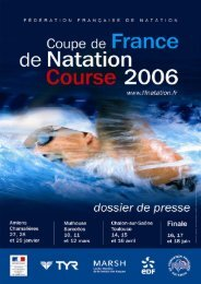 5e et 6e étape - Fédération Française de Natation