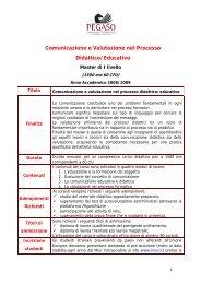 Comunicazione e Valutazione nel Processo Didattico/Educativo