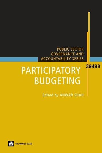 Participatory Budgeting - ISBN: 0821369237 - SASANet