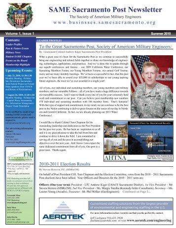 Summer 2010 Newsletter - SAME Sacramento