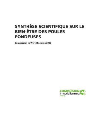 Synthèse scientifique sur le bien-être des poules pondeuses