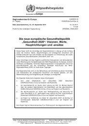 """Die neue europäische Gesundheitspolitik """"Gesundheit 2020 ..."""