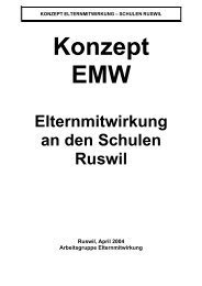 Elternmitwirkung an den Schulen Ruswil