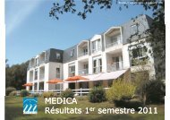 Résultats 1er semestre 2011 - Groupe MEDICA, maisons de ...