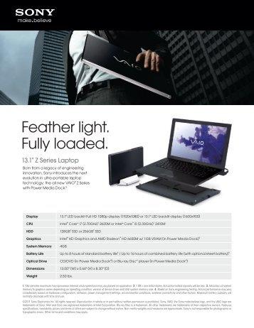 Sony Vaio VPCF13QFX/B Smart Network Windows Vista 64-BIT