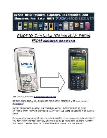 set up 3gx for nokia n70 i mobile 3gx rh yumpu com Nokia Phones Nokia N95