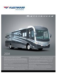 2004 Fleetwood Revolution Specifications PDF with Floorplans and ...