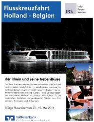 Reiseprospekt mit Anmeldebogen - Raiffeisenbank Geislingen ...