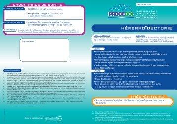 Procedol :Hémorroïdectomie - Institut upsa de la douleur