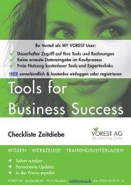 Checkliste Zeitdiebe - Vorest AG