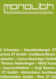 tekt DI Paul Schweizer • klaszkleeberger ZT ... - Creative Solutions