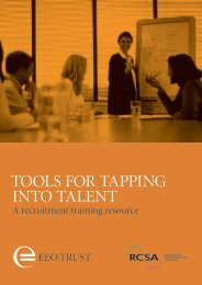 Full resource (940K pdf - Equal Employment Opportunities Trust