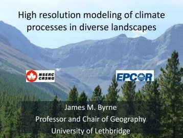 High resolution modeling of physical and ecological processes in ...